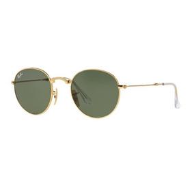 e0febcf25912f Oculos Sol Ray Ban Round Dobravel Rb3532 001 53 Dourado Verd