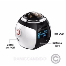 Mini Câmera 360° + Suportes Bike, Moto, Capacete + Óculos 3d
