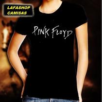 Camiseta Pink Floyd Look Feminina Banda Rock Mulher Camisa
