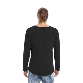 Camiseta Manga Longa A Fio Branco