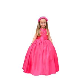 Vestido De Festa Princesa Formatura Florista Casamento Pink