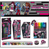 Mega Kit Escolar Monster High - 32 Peças