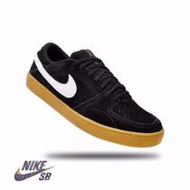 Tenis,sapatenis Nike Sb Masc,cinza Azul,couro Original