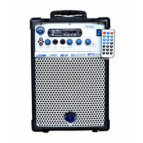 Caixa Multiuso Turbox Fm Bluetooth Usb Rádio Tb-200 40w Rms