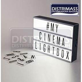 Lampara Led Cinematic Box Con Letras A Pilas O Corriente