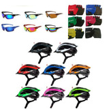 Capacete Bike +luvas +óculos Kit Ciclismo Ciclista Bicicleta