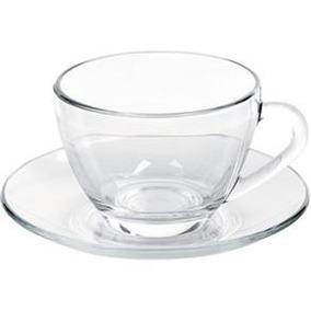 Conjunto De 6 Xícaras Chá 240ml Com Pires Astral Duralex