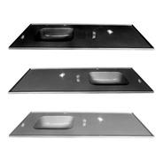 Mesada C/ Pileta Durafort 140x60 Cm Marmol Sintetico 1 Pieza