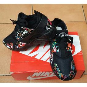 Nike Huarache Floreado Plateado Del 21 Al 44 Envios Expres