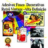 Adesivo Vinil Estampa Antiga Vintage Retro 20x30cm Melhor $