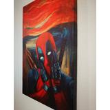 Cuadro Canvas Deadpool El Grito / 32 X 50 Cm / Marvel
