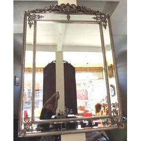 Espelho Est Classico Cor Prata Bisotê Entalhado R.decora