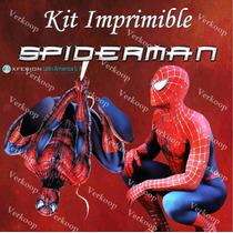 Kit Imprimible Spiderman El Hombre Araña Fiesta