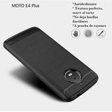 Carcasa Protector Motorola Moto E4 Plus Forro Fibra Carbono