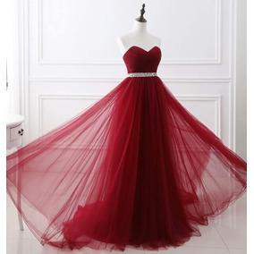 Vestido De Debutante Vinho - Tamanho 36-38 - Pronta Entrega
