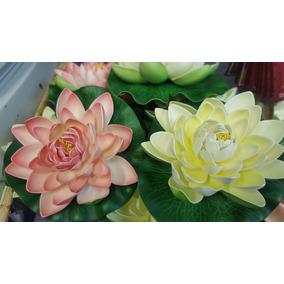 Flor De Loto Bellisimo 18 Cm Artificial Excelente Calidad