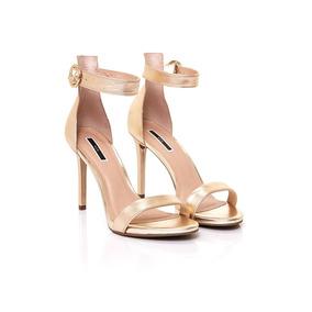 Sandalias De Mujer Fiesta Via Uno 17280620 Metalizado Dorado