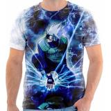 Camiseta Blusa Personalizada Anime Naruto Kakashi Desenho 03