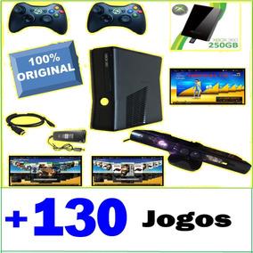 Xbox 360 250g *130 Jogos 2 Controles S/ Fio Kinect Freestyle