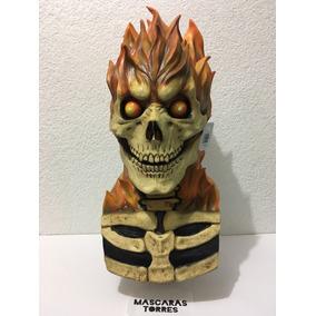 Ghost Rider El Vengador Fantasma Máscara De Latex Halloween