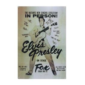 Cartel Cuadro Vintage Retro Elvis - Desillas - Envío Gratis