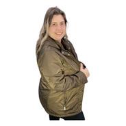 Parka Feminina Forrada Pelinhos Capuz Removível Plus Size