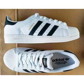 Zapatillas adidas Superstar Color Blanco Raya Negra