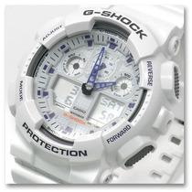 Relógio Casio G-shock Ga 100a-7adr - 100% Original Esportivo
