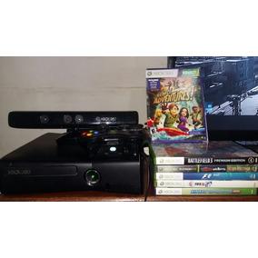 Xbox 360 Desbloqueado Com Kinect E 5 Jogos Originais