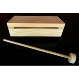 Caja China Escolar / Woodblock De Madera (15 Cm.) Psr