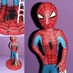Hombre Araña En Porcelana Fria, Adorno De Torta