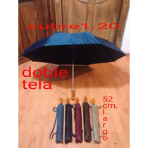 Paraguas Sombrilla Jumbo Macana Doble Tela Automatico