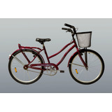Bicicleta Paseo Dama Peretti Rodado 26 Canasto Envio Gratis