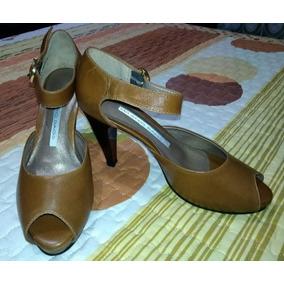 Zapatos Cuero Damas Milano Bags Originales T 35/36 Talto.
