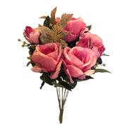 Buquê De Rosas X10 49cm - Rosa