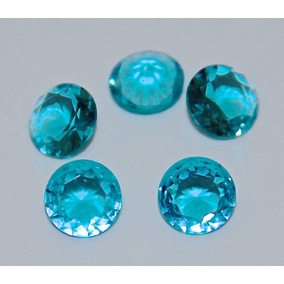 Rsp 3701 Qtz Turmalina Paraíba Neon D=7mm $ Pedra 0,92ct