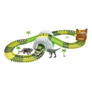Pista Dinossauro De Montar Com Tunel E Acessórios 109 Peças