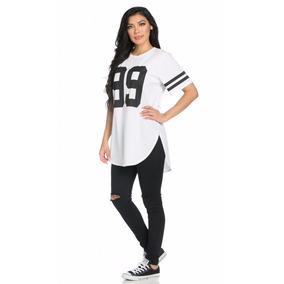 Blusa Plus Size Oversized, Camiseta Long Line Feminina, Swag