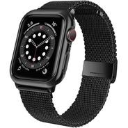 Malla + Carcaza Para Apple Watch 44mm Jwacct Black