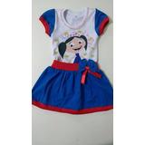 Vestido Show Da Luna,fantasia, Aniversário,1 Ao 8 Anos