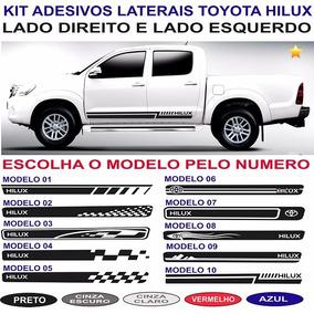 Acessorios Par Adesivos Toyota Hilux Faixas Laterais 4x4