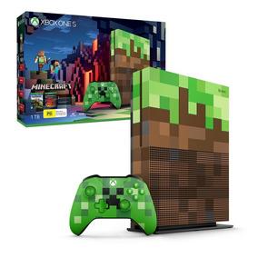 Console Xbox One S 1tb Edição Minecraft Nf-e Pronta Entrega!