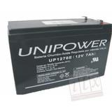 Bateria Selada 12v 7ah Unipower Up1270e No-break, Alarme