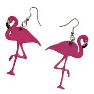 Aros Flamencos Rosa Estilo Pin Up Retro
