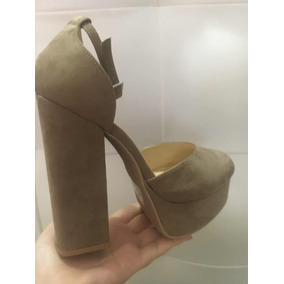 Zapatos Altos Tacón Nude Oxford Plataformas