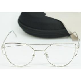 Conjunto Prata Feminino Gatinho - Óculos no Mercado Livre Brasil c7b3eb3453