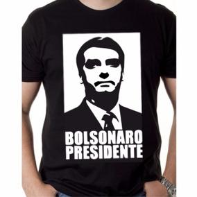 Camiseta Jair Bolsonaro Presidente 2018 Blusa Manga Curta