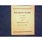 Masoneria Logia Masonica Nº 20-reglamento- Interno 1933