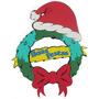 Guirlanda Boas Festas Em Eva Decoração De Natal
