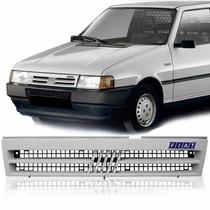 Grade Dianteira Primer + Emblema Fiat Uno 91 92 93 94 95